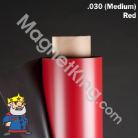 red magnetic sheeting