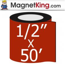 0.50 in. x 50' Roll Medium Matte White Magnet