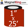 1 in. x 25' Roll Thick Matte White Magnet