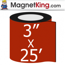 3 in. x 25' Roll Thick Peel n Stick Adhesive Magnet Tape