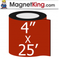 4 in. x 25' Roll Thick Matte White Magnet