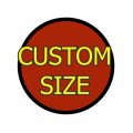 Custom Size Circle Medium Matte White Magnet