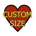 Custom Size Heart Medium Matte White Magnet