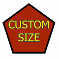 Custom Size Pentagon Medium Matte White Magnet