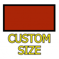 Custom Size Rectangle Medium Matte White Magnet