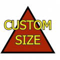 Custom Size Triangle Medium Matte White Magnet
