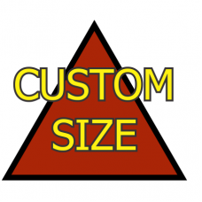 Custom Size Triangle Dry Erase Magnet