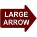 Large Arrow - 23x17 in. Magnet Die Cut