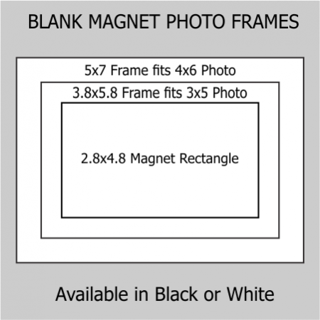 4x6 & 3x5 Magnetic Photo Frame Kit