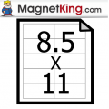 "8.5"" x 11"" Sheets Very Thin Precut Magnet Cards (100 pk)"