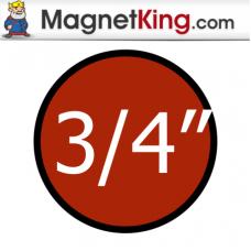 0.75 in. Circle Medium Dry Erase White Magnet