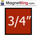 0.75 in. Square Medium Plain Magnet