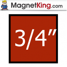 0.75 in. Square Thick Plain Magnet