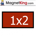 1 x 2 Rectangle Medium Matte White Magnet