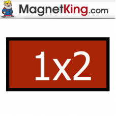 1 x 2 Rectangle Thin Plain Magnet