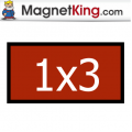 1 x 3 Rectangle Medium Matte White Magnet