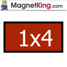 1 x 4 Rectangle Medium Dry Erase White Magnet