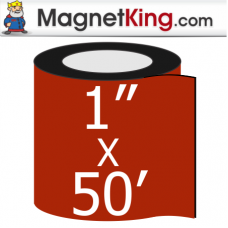 1 in. x 50' Roll Thin Matte White Magnet