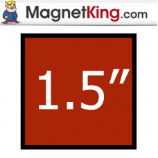1.5 in. Square Thin Plain Magnet