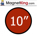 10 in. Circle Medium Plain Magnet