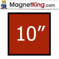 10 in. Square Medium Plain Magnet