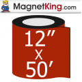 "12"" x 50' Roll Thin Matte White Magnet"