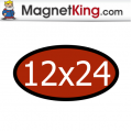 12 x 24 Oval Thick Plain Magnet