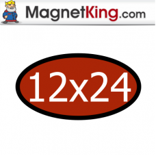 12 x 24 Oval Medium Matte White Magnet