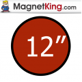 12 in. Circle Medium Plain Magnet
