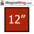 12 in. Square Medium Plain Magnet