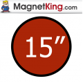 15 in. Circle Medium Plain Magnet