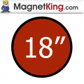 18 in. Circle Medium Plain Magnet