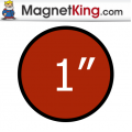 1 in. Circle Medium Plain Magnet