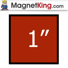 1 in. Square Thick Plain Magnet