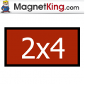 2 x 4 Rectangle Medium Matte White Magnet