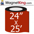 "24"" x 25' Roll Thin Matte White Magnet"