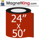 "24"" x 50' Roll Medium Matte White Magnet"