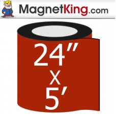"24"" x 5' Roll Medium Matte White Magnet"