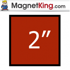 2 in. Square Thin Plain Magnet