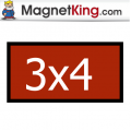 3 x 4 Rectangle Thin Glossy White Magnet