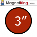 3 in. Circle Medium Plain Magnet