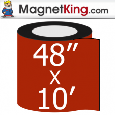 "48"" x 10' Roll Medium Matte White Magnet"