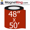 "48"" x 50' Roll Medium Matte White Magnet"