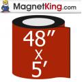 "48"" x 5' Roll Medium Matte White Magnet"