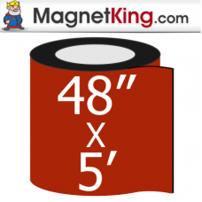 "48"" x 5' Roll Medium Matte White Magnet"