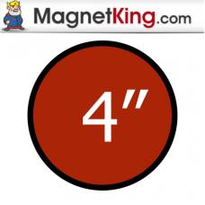 4 in. Circle Medium Dry Erase White Magnet