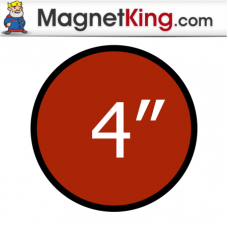 4 in. Circle Medium Peel n Stick Outdoor Adhesive Magnet