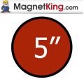 5 in. Circle Medium Plain Magnet