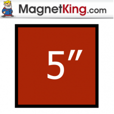 5 in. Square Thick Plain Magnet