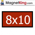 8 x 10 Rectangle Thin Plain Magnet